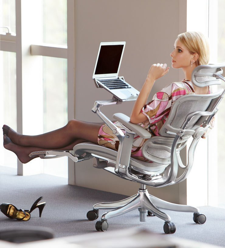 Dabaoli ergonomic computer chair mesh chair office chair for Most expensive office desk