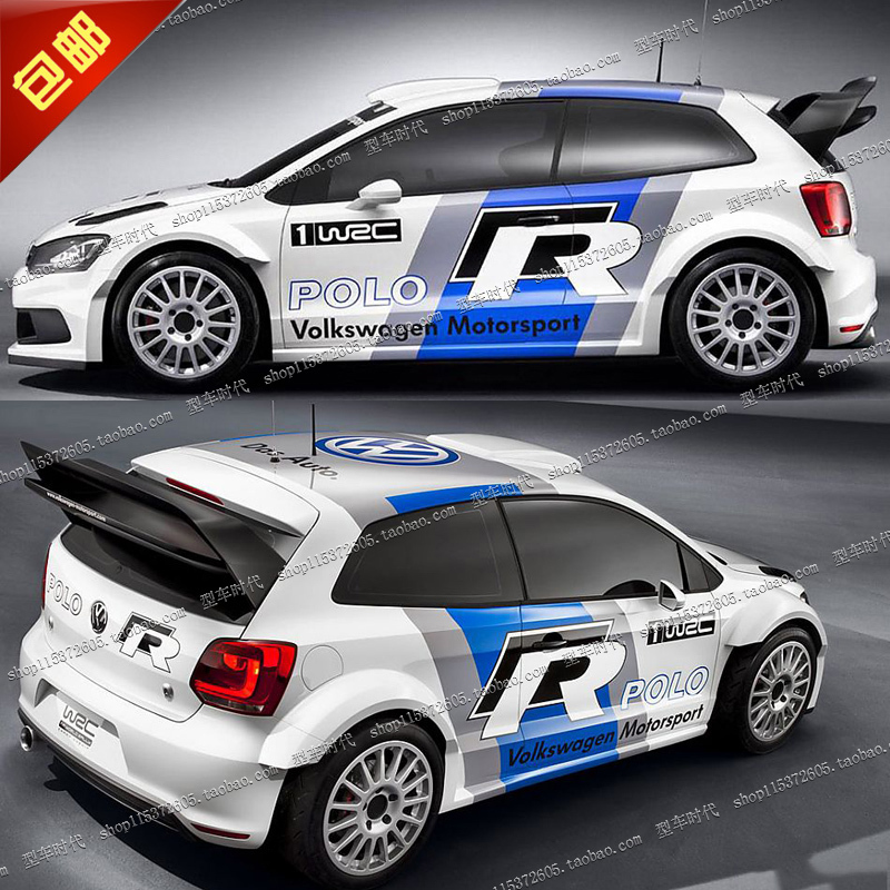 super cool whole body wrc car sticker car styling car ...
