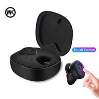 Wk controle de toque mini tws sem fio bluetooth fones de ouvido com caixa carregamento bluetooth fones para todo o telefone móvel inteligente