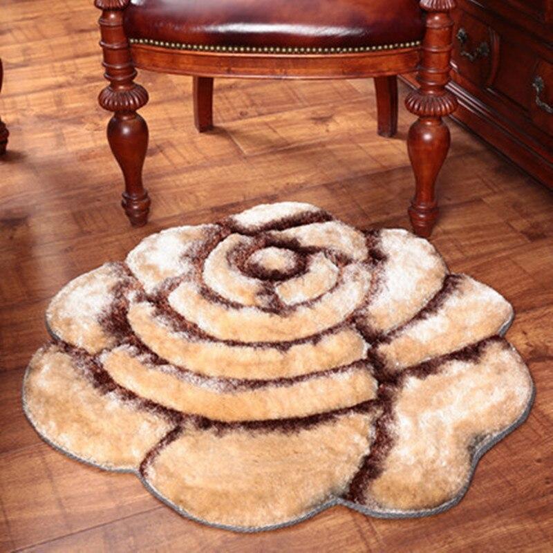 Tapis de maison de luxe de haute qualité 3D motif Rose rouge tapis de décoration de mariage pour salon chambre tapis épaissir tapis de salon - 6