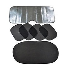Car sun shading sunscreen shade reflective block front rise visor thickening of the window sun-shading board 6pcs / lot