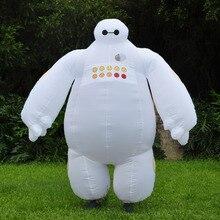 Baymax big hero 6 inflable traje de halloween para las mujeres de los hombres adultos cosplay anime fancy dress suit 2 m partido volar traje de mascota