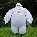 Inflables de halloween grandes hero 6 baymax traje para las mujeres y los hombres adultos cosplay fancy dress suit 2 m baymax mascota