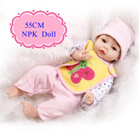 New Design 55cm 22inch Cheap Reborn Dolls With Cute Baby Doll Clothes Adora Baby Doll Best