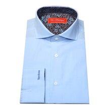 pure cotton sky blue spread collar long sleeve men's custom tailor made plain Dress Shirt, bespoke MTM MAN'S BLOUSE  free ship