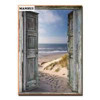 Full Square Drill 5D DIY Diamond Painting The Door Of Hope 3D Embroidery Cross Stitch Mosaic