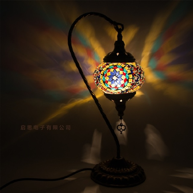 Turca mosaico Candeeiro de mesa do vintage art deco Artesanais lamparas de mesa de mosaico de Vidro romântico cama luz lamparas con mosaicos