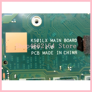 Image 3 - K501LX asus K501LN K501LB A501L K501L V505L メインボード I7 5500U 4 グラム RAM GTX950M 4 ギガバイトノートブックのマザーボード 100% テスト OK