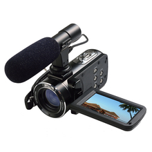 dhl free shipping full hd 1080p digital video camera/24mp Digital camcorder with 3.0'' Touch display and hot shoe/macro lens