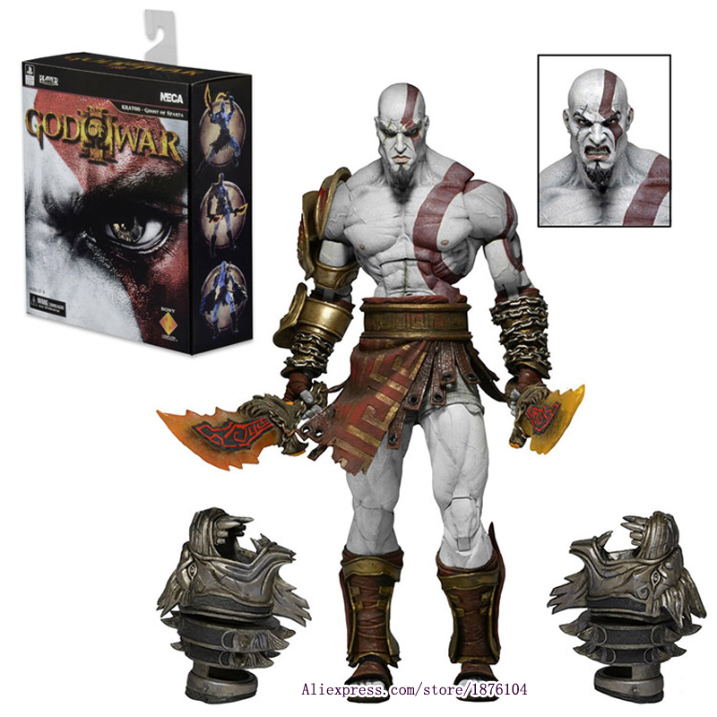 22cm NECA Games God of War Action Figure Ghost Sparta Kratos PVC Figures Ultimate Edition Cartoon Toys Collectible Model Toys