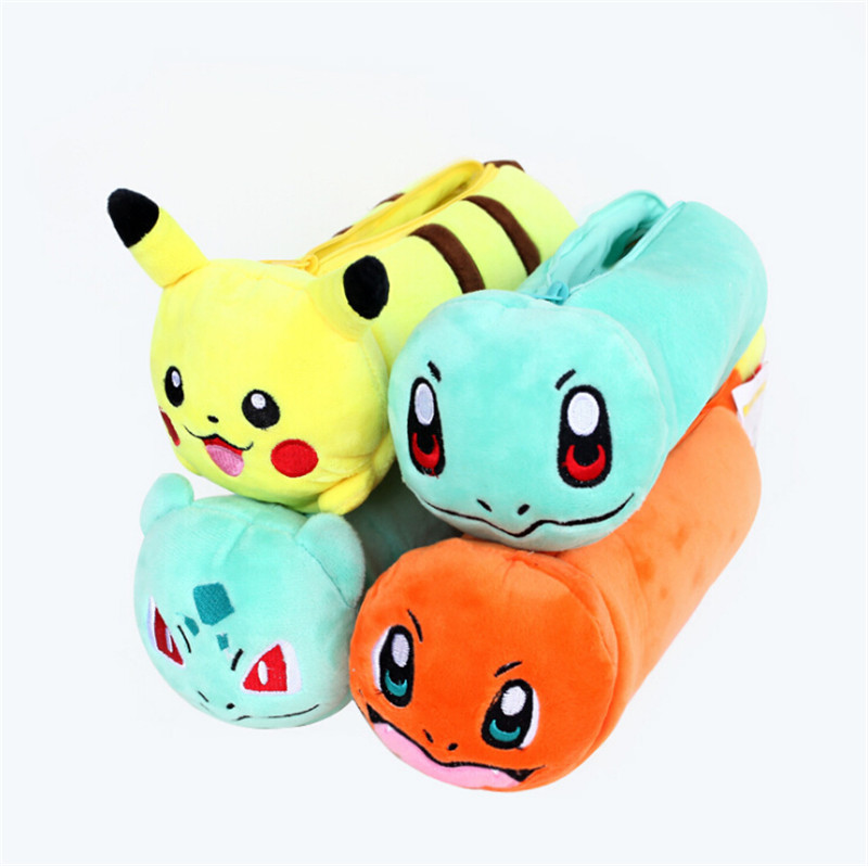 kawaii plush pokemon pencil case bag cute stationery for school supplies girls boys papelaria toys pen pencil case pencilcase cute kawaii pencil case school pencil bag korean stationery pu leather pen bags box for boys girls
