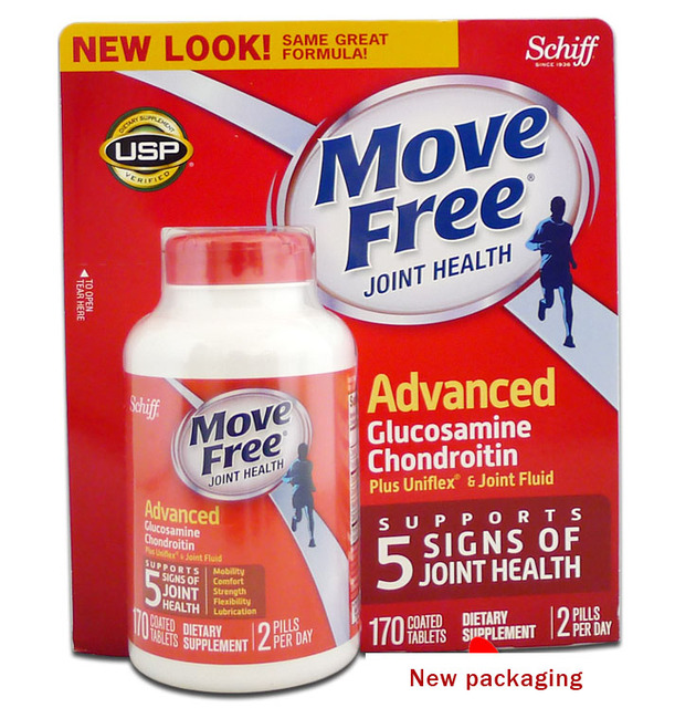 Свободно перемещаться Расширенный Triple Прочность, глюкозамин Хондроитин 170 таблеток бесплатная доставка