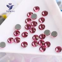 2028HF All Sizes Rose Flatback Glass Beads Strass Stones Crystal Hotfix Rhinestone For Dancing Dresses