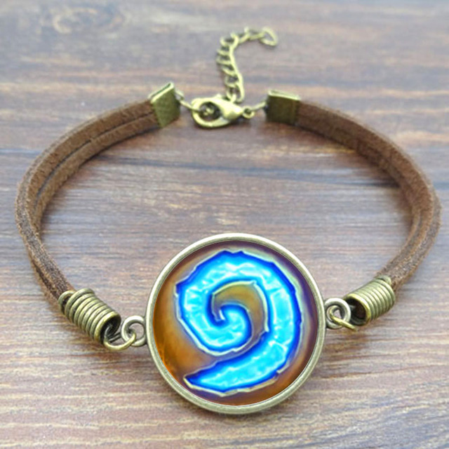 Fashion Unique Bracelets Bangles Wow World Of Warcraft Hearthstone Picture Vintage Brown Rope For