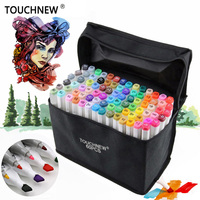 TOUCHNEW FineColors 30 40 60 80 Colors Artist Dual Headed Marker Set Manga Design School Drawing