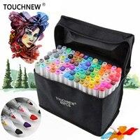 TOUCHNEW FineColors 30 40 60 80 Colors Artist Dual Headed Marker Set Manga Design School Drawing