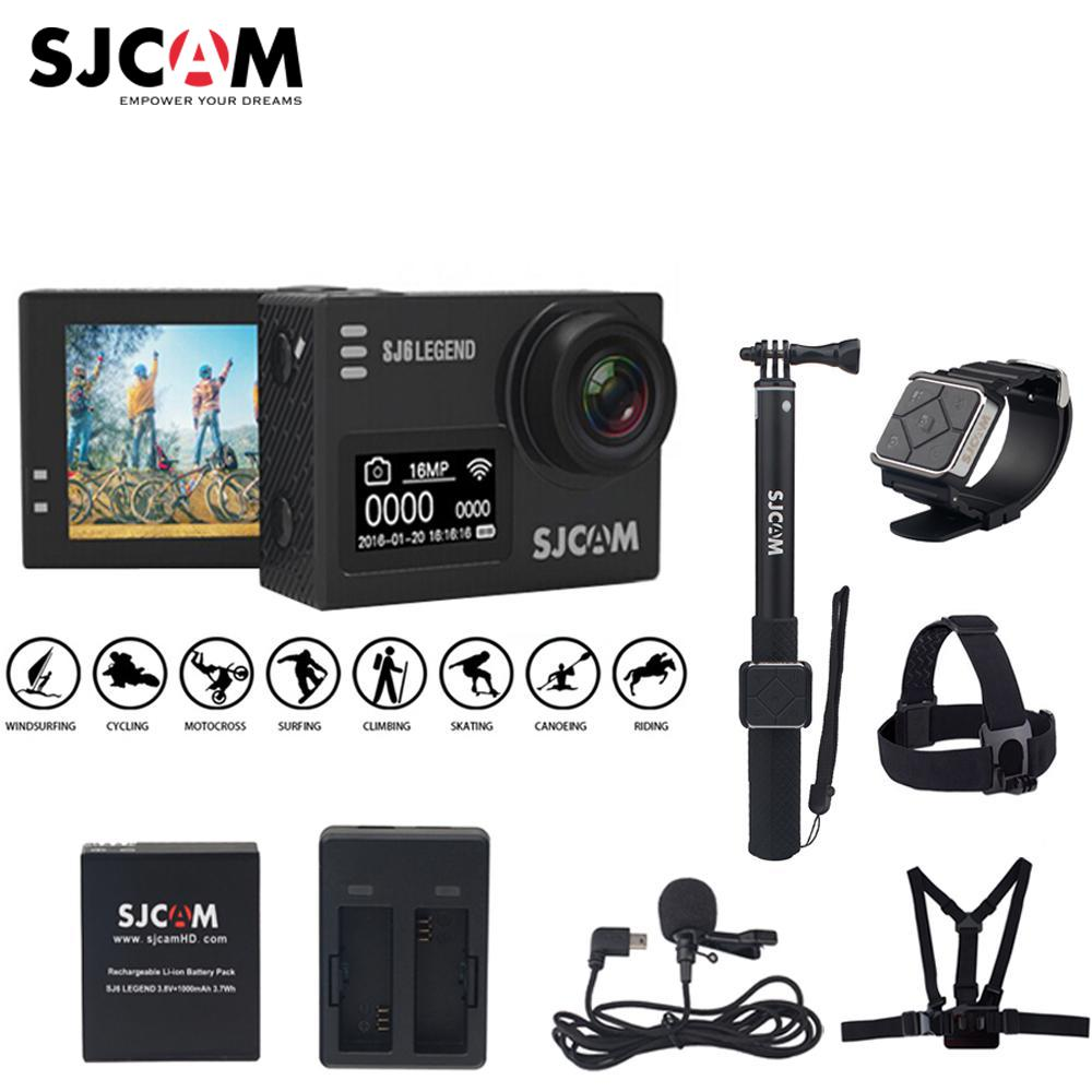100% D'origine SJCAM SJ6 LÉGENDE 4 K 24fps 2.0 Écran tactile À Distance Ultra HD Notavek 96660 30 M Étanche Action Sports Caméra DVR