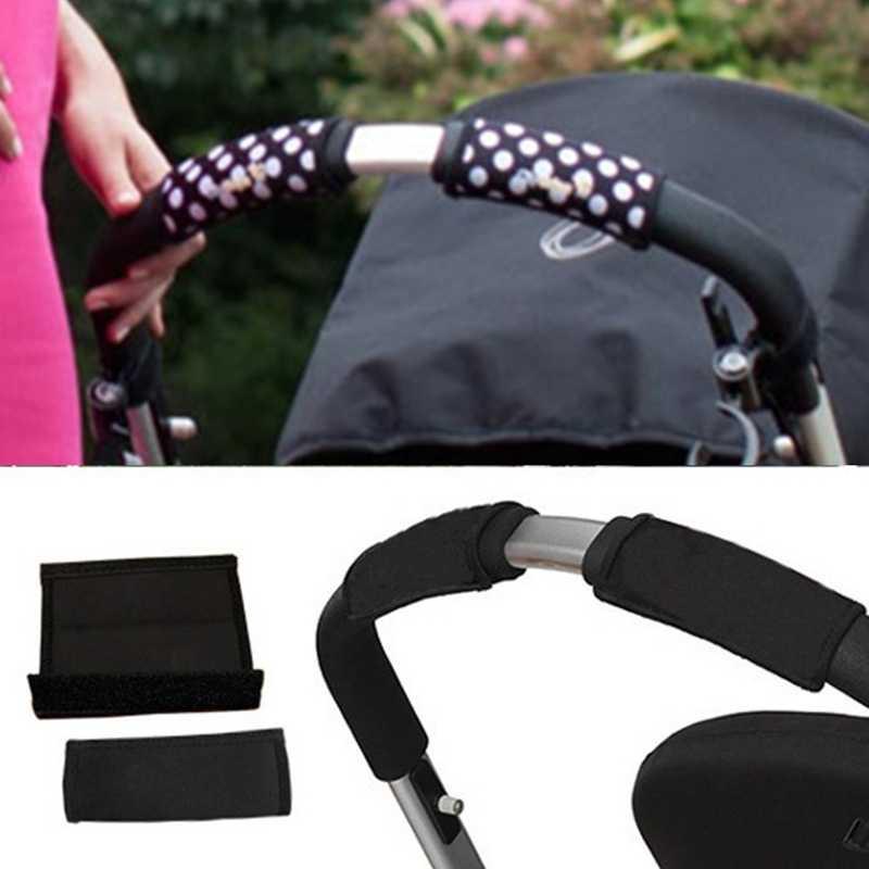 2 unids/lote funda para carrito de bebé cochecito carrito de bebé manija delantera Barra de parachoques cubierta antideslizante silla de ruedas Protector de mano