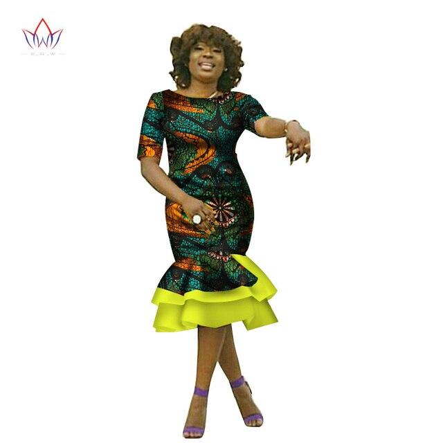 BRW 2019 Africa DressesFor Women Dashiki Elegant Africa Clothing Bazin Riche  Plus Size Africa Style Office Dress for Lady WY2250 99ca8156f0df