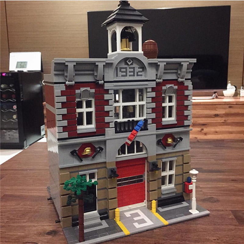 Kreator ekspert 84004 2313 sztuk straży pożarnej zestawy modelu budynku zestawy bloki cegieł kompatybilny z 15004 10197 w Klocki od Zabawki i hobby na  Grupa 1