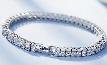 UXN70 S925 plata estrella pulsera cristal señora pulsera cumpleaños fiesta regalo
