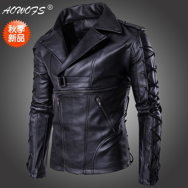 Jacket men jacket The code 2017 new high end men's motorcycle leather new style leather jacket fur clothing boutique new