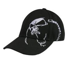 HUOBAO Vintage Skull Embroidered Cap For Men Sports Baseball Caps Black Hip Hop Cap Snapback Hat цена