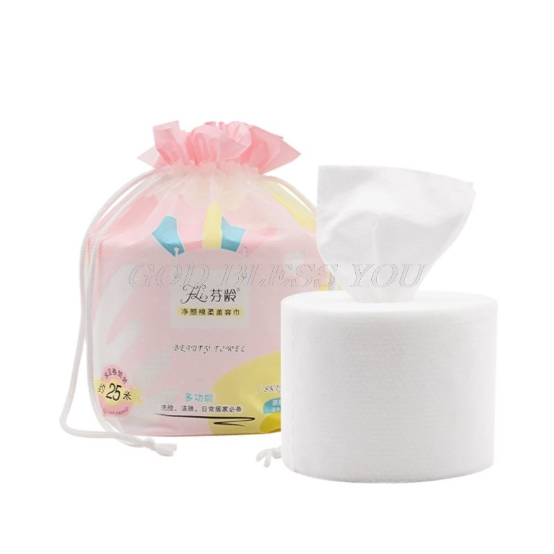 25m One Roll Disposable Cleaning Face Towel Cotton Soft Beauty Towel Skin Care Tool White Facial Tissue