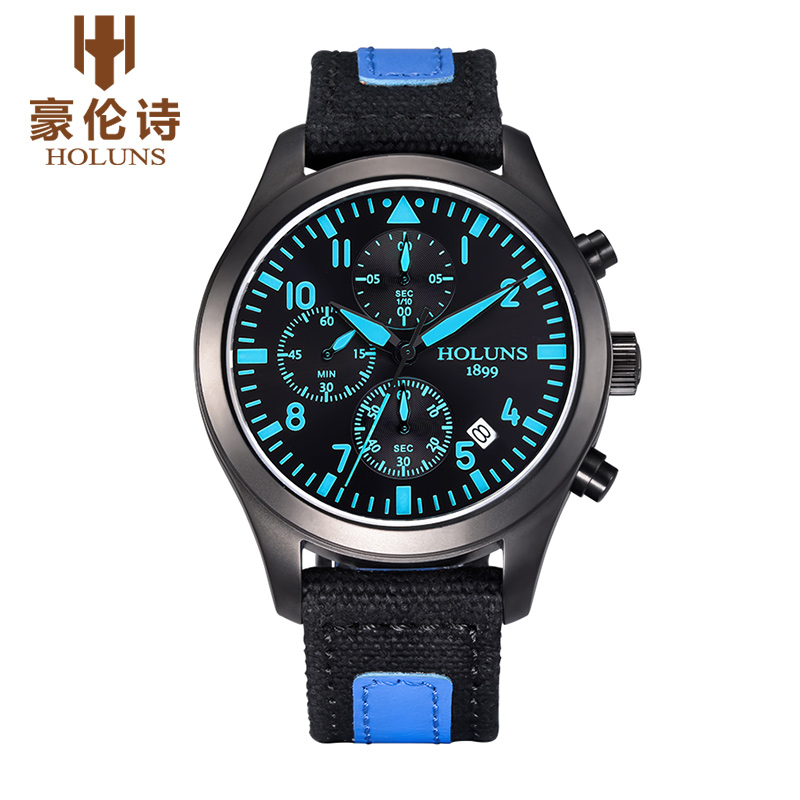 HOLUNS TG002 Watch Geneva Brand Genuine multifunctional outdoor font b military b font watches men Chronograph