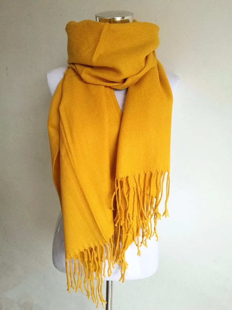 Fringe Edge Solid Scarf | Shawls and Wraps
