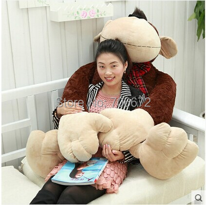 large 90cm monkey plush toy Christmas gift s0789 super cute plush toy dog doll as a christmas gift for children s home decoration 20
