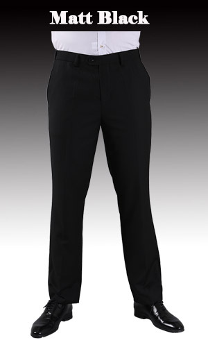 Тонкие брюки мужской формальный деловой Slim Fit Свадебный костюм брюки Diamond синий цвет красного вина черные брюки Размеры 44 плюс Размеры A37 - Цвет: Matt Black