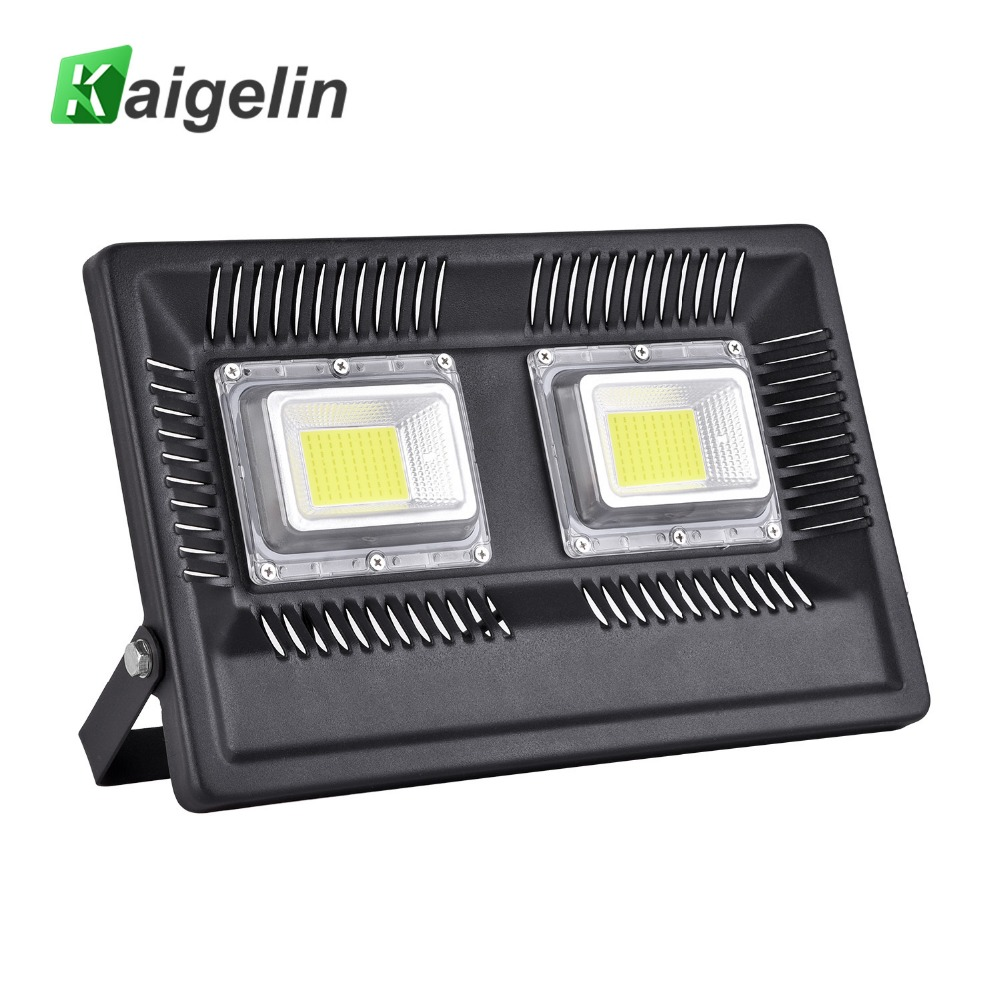 Kaigelin 100W 110-240V LED Flood Light IP66 Waterproof LED Floodlight 8500LM COB Energy Saving LED Spotlight Outdoor Wall Lamp 30% off 2pcs ultrathin led flood light 50w black ac85 265v waterproof ip66 floodlight spotlight outdoor lighting free shipping