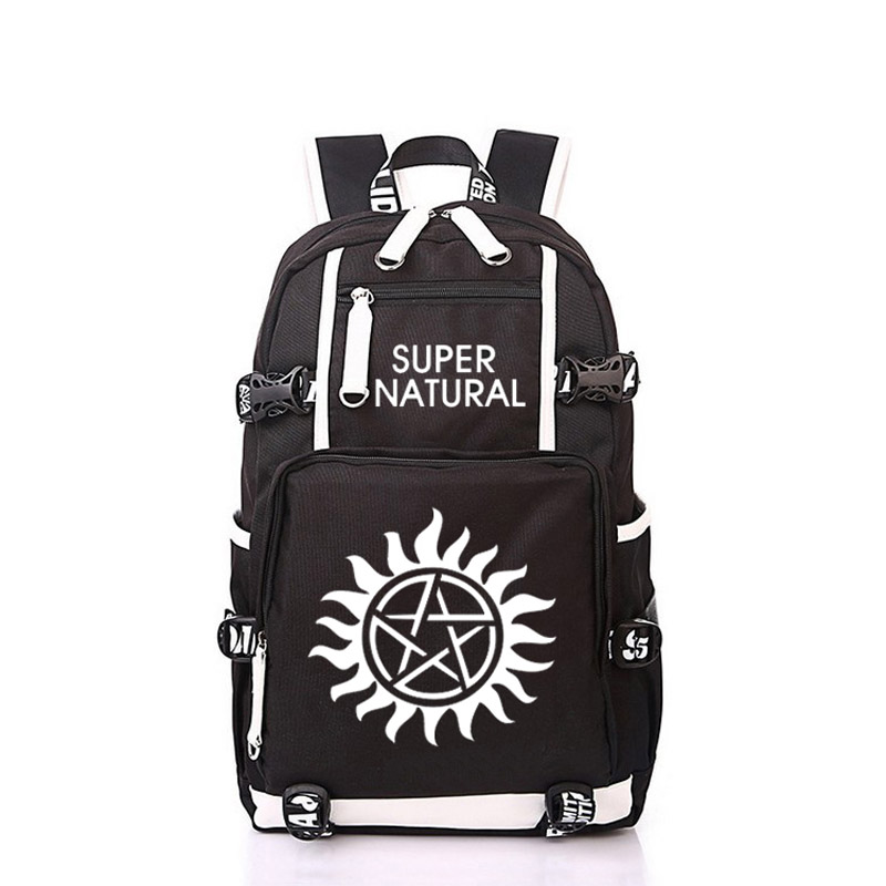 Women Men Supernatural SPN Evil Backpack Rucksack Mochila Schoolbag Bag For School Boys Girls Student Travel women men anime black bulter sebastian michaelis backpack rucksack mochila schoolbag bag for school boys girls student travel