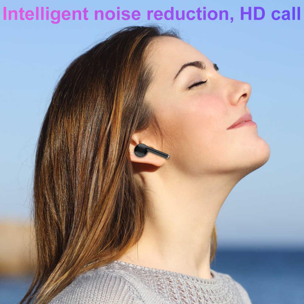 Bluetooth 5.0 słuchawki Stereo zestaw słuchawkowy Bluetooth TWS bezprzewodowe zatyczki do uszu i strąki z mikrofonem douszne sportowe i gier słuchawki Bluetooth