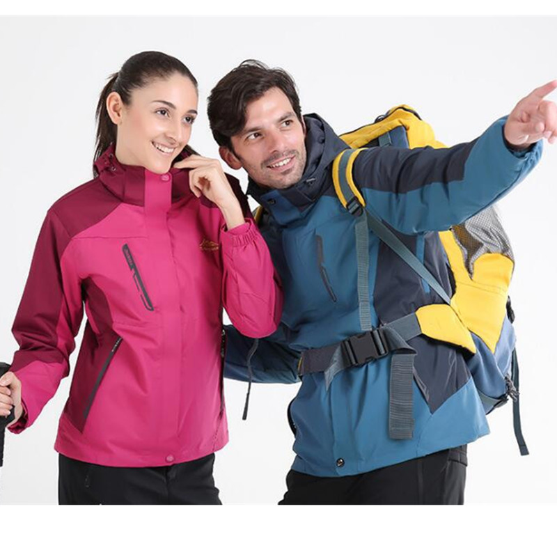 Lovers Top Quality Outdoor 3 in 1 Jackets font b Hiking b font Jackets Men Winter