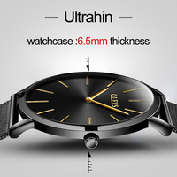 OLEVS New Top Luxury Brand Watch Men Stainless Steel Mesh Band Men S Watches Ultra Thin