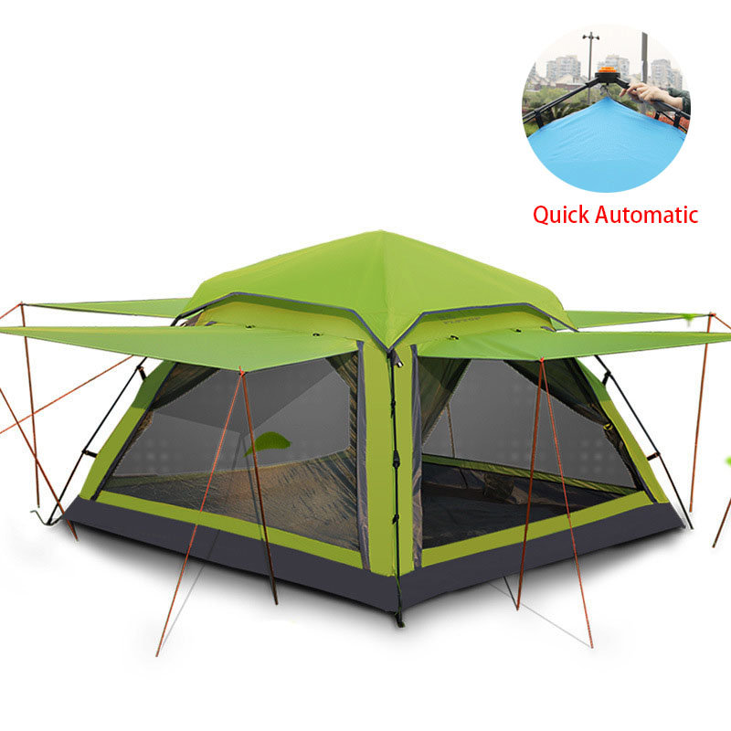 Flytop 3-4 person Waterproof Tent Ultralight Quick Automatic Opening Outdoor Hiking Picnic tents large family beach tents flytop 3 4 person outdoor tent large capacity camping hiking waterproof tents ultralight outdoor travel tents 4 doors breathable page 4