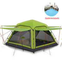Flytop 3 4 person Waterproof Tent Ultralight Quick Automatic Opening Outdoor Hiking Picnic tents large family beach tents