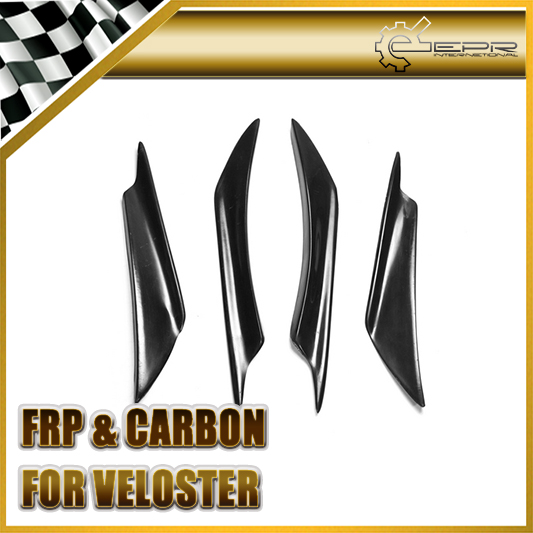 EPR Car Styling For Hyundai Veloster FRP Fiber Glass Front Bumper Canard Fiberglass Exterior Garnish Turbo Only
