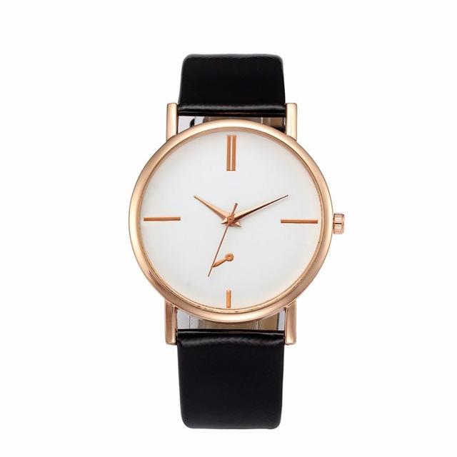 Women's watch Leather wrist watch women Bracelet Watch Fashion Simple Quartz Wri
