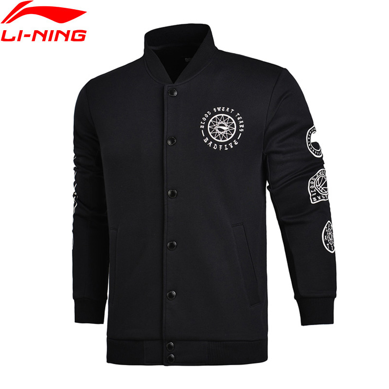 Li-Ning Men BAD FIVE Basketball Sweater WARM AT Regular Fit 66% Polyester 34% Cotton LiNing Sports Sweaters AWDM611 MWW1333