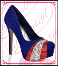 Aidocrystal new style assorted colors stiletto sexy royal blue high heel pumps women evening dress shoes free shipping