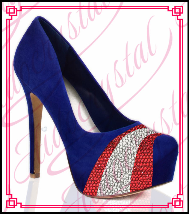 Aidocrystal new style assorted colors stiletto sexy royal blue high heel pumps women evening dress shoes free shipping  цены