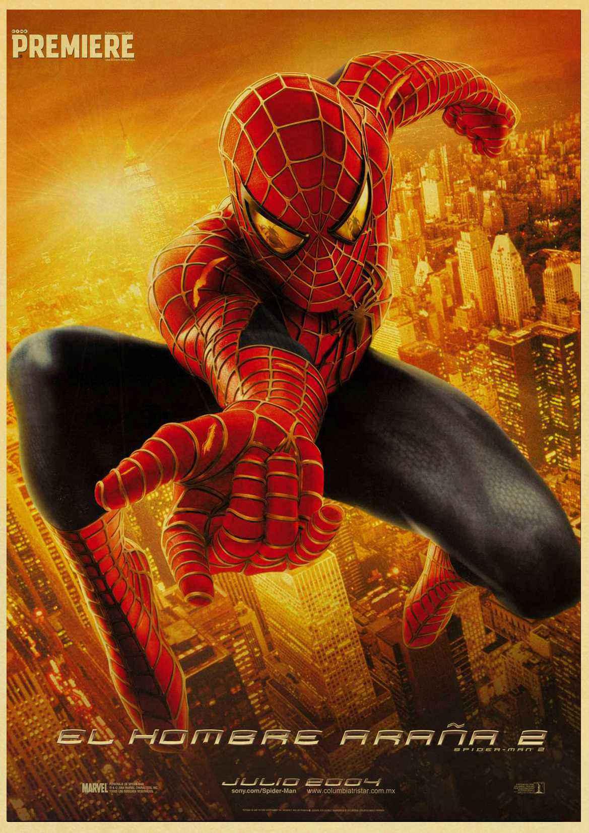 Superhéroe deadpool de Marvel cartel de papel de kraft de