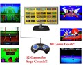 Plug and Play Handheld TV Video Game Console For Sega Genesis  16 Bit Games with 12 Built-in Games 80 Game Levels NTSC AV Output