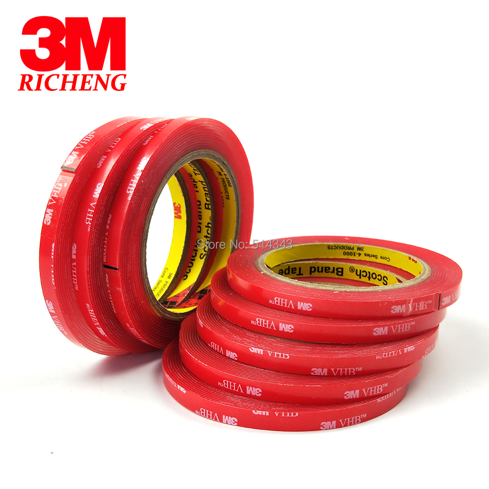1Roll 8MMx3M Meters Clear 3M VHB 4910 Heavy Duty Double Sided Adhesive Acrylic Foam Free Shipping