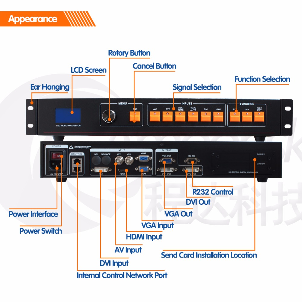 HD screen led video processor LVP506 support max resolution 1920x1080 video processor for HD LED displayHD screen led video processor LVP506 support max resolution 1920x1080 video processor for HD LED display