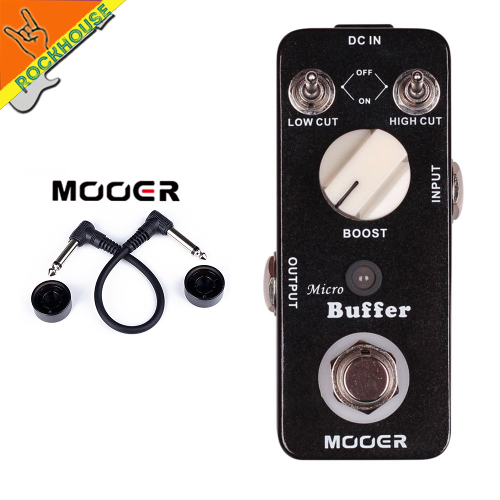 MOOER Micro Buffer Guitar Effects Pedal Accurate Copy input signal frequency Reduce signal attenuation True Bypass