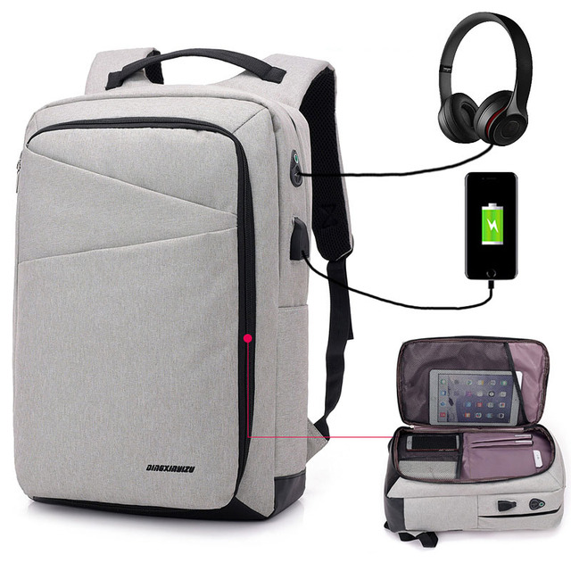 9116b0d0cc67 USB Unisex Design Backpack Book Bags for School Backpack Casual Rucksack  Daypack Oxford Canvas Laptop Fashion Man Backpacks sac